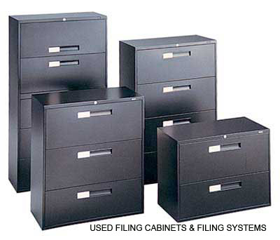 USED FILING CABINETS, STORAGE CABINETS, SHELVING, ETC.